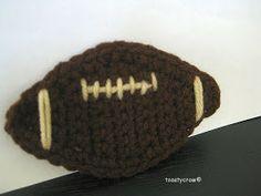 thetoddlerwhisperer: Free Crochet Pattern Football Embellishment