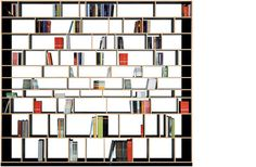 MOORMANN - EGAL Bücher- / CD- / Büro- Regal (design: Axel Kufus)