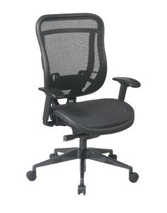 Office Star SPACE Ergonomic Task Chair Upholstery Color: Matrex Back and Leather Seat, Gunmetal Finish Base High Back Office Chair, Swivel Office Chair, Mesh Office Chair, High Back Chairs, Home Office Chairs, Office Furniture, Office Decor, Modern Upholstery Fabric, Chair Upholstery