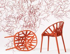vegetal chair  Design Ronan & Erwan Bouroullec, 2008  Polyamide dyed throughout  Made in Germany by Vitra
