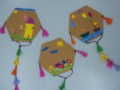 Οι χαρταετοί μας στις 12ο νηπιαγωγείο Χαϊδαρίου το blog μας Carnival Crafts, Kids Carnival, Preschool Crafts, Easter Crafts, Diy For Kids, Crafts For Kids, Kites Craft, Rolled Paper Art, Diy And Crafts