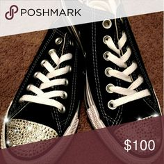 Spotted while shopping on Poshmark: Bling converse, swarovski converse sneakers! #poshmark #fashion #shopping #style #Converse #Shoes