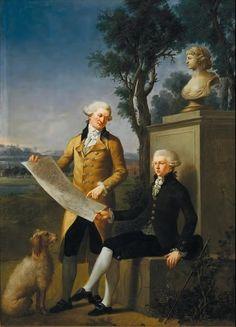 JÓZEF WALL - Fryderyk Skórzewski and Maciej Grabowski in front of bust of Marianna Skórzewska, 1787, National Museum, Poznań