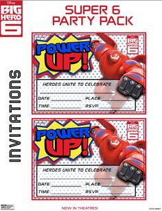Big Hero 6 Party Invites