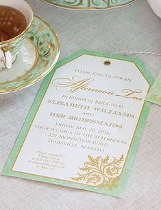 Download the template for our pretty invitations for a Bridesmaids' Tea.