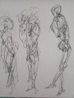 figure drawing classes skeleton blind drawing