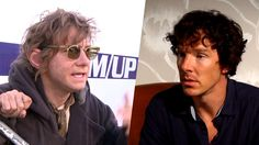 Lovely video messages from Martin Freeman and Benedict Cumberbatch to Comic-Con fans and everybody else about Sherlock Series 3. Martin's is funny, but Benedict's had me rolling!