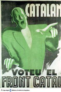 Catalan [sic] : voteu el Front Catal [sic] :: Cartells del Pavelló de la República (Universitat de Barcelona)