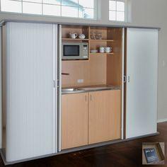 Kompaktküche | Schrankküche Rolldoor - elegante Form mit Potenzial Doors, French Door Refrigerator, Home, Appliances, French Doors, Kitchen, Kitchen Appliances