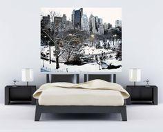 New York City Photo  Winter Home Decor  Snow  Ice by VitaNostra, $30.00