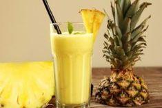 Ananas-Bananen-Shake - La mejor imagen sobre diy face mask para tu gusto Estás buscando algo y no has podido alcanzar la - Fruit Smoothies, Smoothies Banane, Smoothie Proteine, Healthy Smoothies, Healthy Drinks, Detox Smoothies, Breakfast Smoothies, Healthy Kids, Fat Burning Smoothies