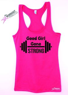 Good Girl Gone Strong - Funny Tank - Fitness Jersey Tank.