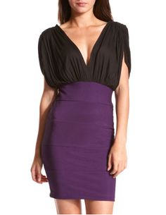 Double V- Banded Dress from Charlotte Russe, definitely a dress to have going out.