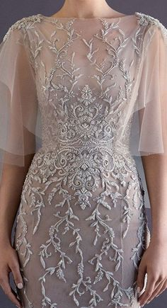 Love those sleeves paolo_sebastian_haute_couture Elegant Dresses, Pretty Dresses, Formal Dresses, Wedding Dresses, Couture Wedding Gowns, Beautiful Gowns, Beautiful Outfits, Dream Dress, Couture Fashion