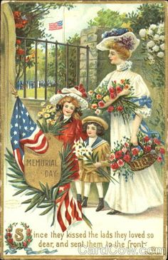 The Philosophers Wife: Happy Memorial Day: Three Vintage Postcards