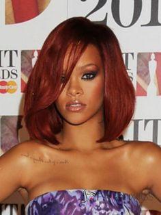 Impressive Medium Red Female African American Wigs Don't forget to visit my website (www. Medium Hair Styles, Natural Hair Styles, Short Hair Styles, Natural Curls, Rihanna Hairstyles, Wig Hairstyles, Bob Hairstyle, Auburn Hair, Hair Color For Black Hair