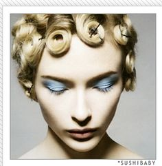 pincurls - this used to be a high school do for me!