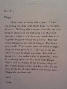 Frida to Diego letter translated Miss You Babe, Frida And Diego, She Walks In Beauty, Diego Rivera, Human Condition, Hug Me, Exhibit, Artsy Fartsy, Just Love