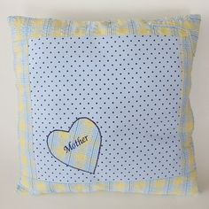 Custom pillow cover made using pajamas that belonged to my customer's grandmother. This was a gift to her mother.