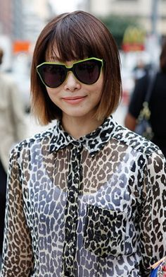 Neon sunglasses and leopard print.