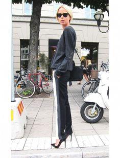 Side-Stripe Pants