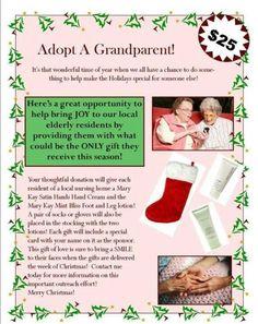 Adopt a grandparent christmas gift ideas