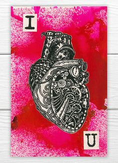 I [heart] U White Paper, Steampunk, Journal, Abstract, Heart, Artwork, Summary, Work Of Art, Auguste Rodin Artwork