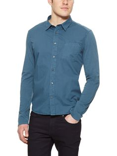 Garment-Dyed Sport Shirt by Edun at Gilt
