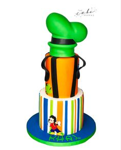 Call or email to order your celebration cake today. Disney Themed Cakes, Disney Cakes, Goofy Cake, 4th Birthday, Birthday Cake, Cakes Today, Mickey And Friends, Celebration Cakes, Baby Shower Cakes