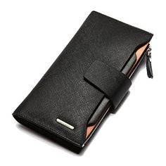 YAAGLE Mens Multipurpose Business Genuine Cowhide Leather Clutch Handbag Vertical Wallet Purse Coin Pouch Pocket For Mobile Phone Keys Case Cash Money Clips Cards Holder Coffee Black ** See this great product.