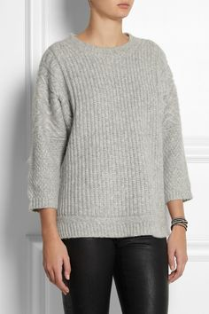 J.Crew Ribbed-knit alpaca-blend sweater NET-A-PORTER.COM