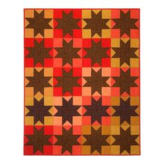 Calico Star Quilt by WiseCrafthandmade on Etsy