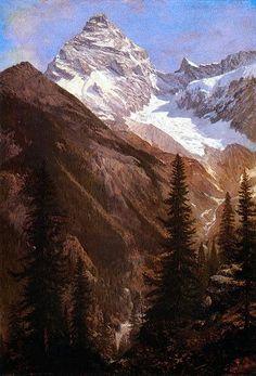 This Is My Father's World    Canadian Rockies, Asulkan Glacier, by Albert Bierstadt (1830-1902)