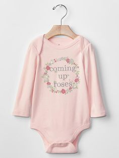 Shop by size to create an adorable outfit for your little one with baby girl collection from Gap. Girls Clothes Shops, Coming Up Roses, Cute Baby Girl Outfits, Moda Online, Baby Gap, Baby Bodysuit, Cute Babies, Kids, Feminine Fashion
