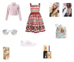 """Marilena"" by littlelulu94 on Polyvore featuring Miss Selfridge, PBteen, adidas, Casetify, Ray-Ban and Yves Saint Laurent"