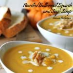 Roasted Butternut Squash and Sage Soup #SundaySupper