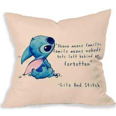 disney lilo and stitch Home Decorative Cotton Pillow Case Throw Pillow Cover #PillowDesign
