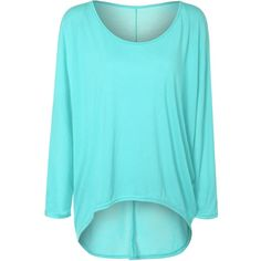 High Low Plus Size Plain T Shirt ($11) ❤ liked on Polyvore featuring tops, t-shirts, plus size tops, women's plus size tops, blue tee, blue top and plus size tees