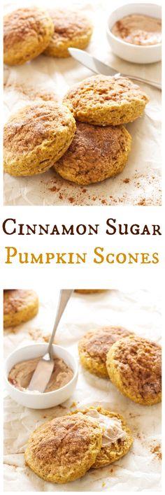 Cinnamon Sugar Pumpkin Scones