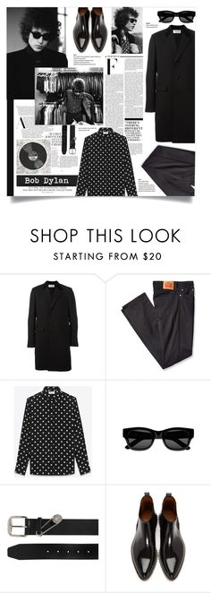 """""""Bob Dylan"""" by greengoblinz ❤ liked on Polyvore featuring Yves Saint Laurent, Levi's, Nicki Minaj, Sun Buddies, Versus, Givenchy, men's fashion and menswear"""