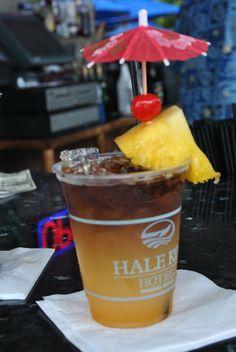 On Waikiki Beach at the Hale Koa Hotel, triple triple Mai tai the best ever !