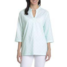 Peter Millar Women's Spa Print 3/4 Sleeve Tunic Top