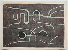 Tōshi YOSHIDA (1911 - 1995): System Roman Letters, Woodblock Print, Neon Signs, Japanese, Artwork, Prints, Pictures, Photos, Work Of Art