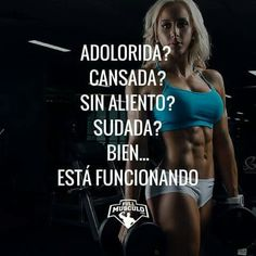 Esta funcionando Gym Motivation Quotes, Fitness Quotes, Fitness Goals, Fitness Diet, Yoga Fitness, Weight Loss Motivation, Health Fitness, Motivational Phrases, Muscle Training
