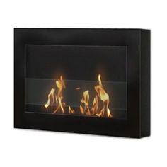 Anywhere Fireplace SoHo 28 in. Wall Mount Vent-Free Ethanol Fireplace in Black