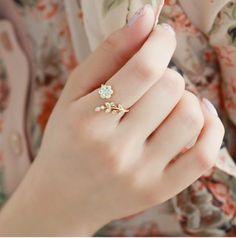 accessoryinlove — Fashion Rhinestone Stretch Flower Ring
