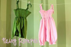 Fairy dress/romper from a tshirt. Not sure who needs this, but it's a cool idea.