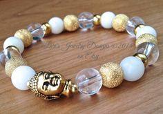 Buddha Bracelet Jade Buddha Bracelet by LarisJewelryDesigns