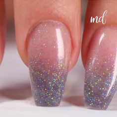 SPARKLE OMBRE NAILS, You can collect images you discovered organize them, add your own ideas to your collections and share with other people. Trendy Nail Art, Nail Art Diy, Diy Nails, Cute Nails, Diy Art, Manicure Colors, Gel Manicure, Nail Colors, Natural Nail Art