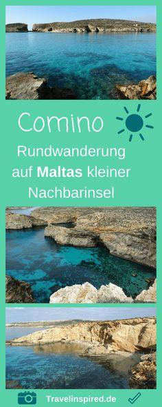 Reisebericht zum Wandern auf Comino, Maltas kleiner Nachbarinsel. Unsere Tipps für einen Tagesausflug zur Blauen Lagune mit Rundwanderung entlang der Sehenswürdigkeiten von Comino. #comino #wandern #rundwanderung #blauelagune #bluelagoon #outdoor #mittelmeer #maltatagesauslug #travelinspired #santamarijabay #cominotto
